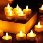 Zenoplige Lot de 24 Bougie LED à Piles Decoration pour Table Party Anniversaire Mariage (Chaud jaune) de la marque Zenoplige image 3 produit