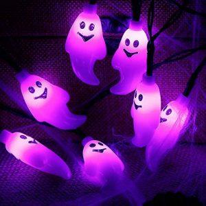 zerproc Halloween Guirlandes Lumineuse de fantôme/Citrouille 20LEDs USB L'atmosphère d'halloween s'allume Acrylique fantôme Style Décoration de Guirlandes Lumineuses pour Halloween 3.3M/10.8 ft de la marque zerproc image 0 produit