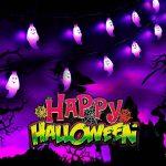 zerproc Halloween Guirlandes Lumineuse de fantôme/Citrouille 20LEDs USB L'atmosphère d'halloween s'allume Acrylique fantôme Style Décoration de Guirlandes Lumineuses pour Halloween 3.3M/10.8 ft de la marque zerproc image 3 produit