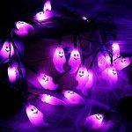 zerproc Halloween Guirlandes Lumineuse de fantôme/Citrouille 20LEDs USB L'atmosphère d'halloween s'allume Acrylique fantôme Style Décoration de Guirlandes Lumineuses pour Halloween 3.3M/10.8 ft de la marque zerproc image 4 produit