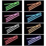 ZISTE Lot de 4barres LED d'éclairage de l'habitacle, ruban lumineux, ampoules LED multicolores pour l'intérieur de la voiture, Kit avec fonction acoustique et télécommande sans fil, chargeur voiture double port USB, Orange de la marque ZISTE image 4 produit